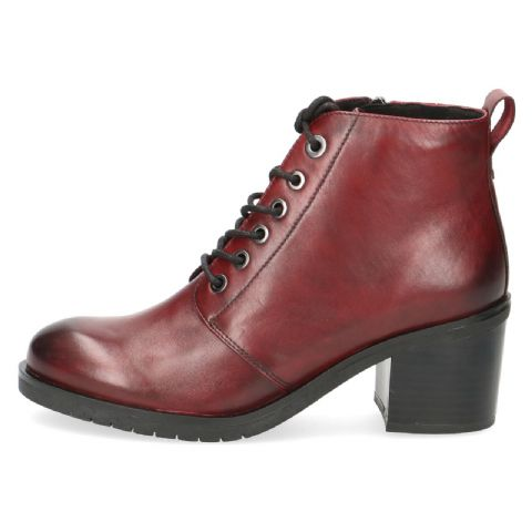 CAPRICE Burgundy Lace Ups Ankle Boots